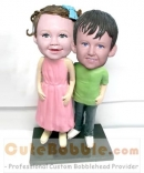 Sister and Brother custom bobbleheads