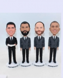 Groomsmen custom bobbleheads-4 units