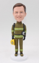 custom bobbleheads-Fireman firefighter