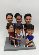 Custom bobbleheads for A Family of 6