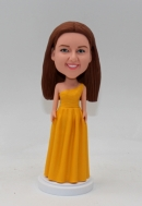 Maid of honour custom bobble head