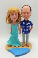 Wedding Bobbleheads on the beach