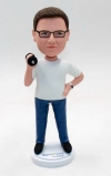 custom bobblehead doll-Barbell in hand
