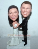 Dancing Bobblehead Wedding Cake Toppers