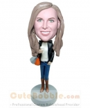 Fashion lady custom bobble heads