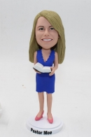 custom bobbleheads female pastor