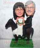 Riding a Horse Bobblehead Cake Toppers