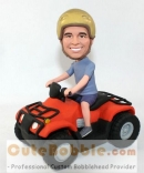 Driving tractor custom bobblehead
