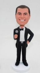 Custom bobbleheads with microphone