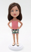 Custom bobbleheads - Casual Girl doll