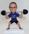 Custom weightlifting bobblehead