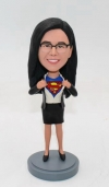 Personalized bobblehead-superman transform female