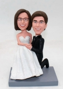 Personalize custom wedding bobbleheads cake topper