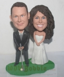 Golf Couple wedding Bobbleheads