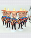 Custom Mexican bobblehead with guitar