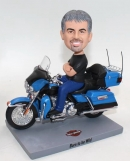 Driving Motorcycle personalized bobblehead