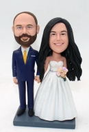 custom bobbleheads wedding cake topper