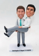 Same Sex Fully custom bobbleheads cake toppers
