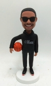 Custom bobblehead-Male holding basketball