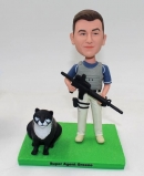 Custom bobblehead-Agent with gun