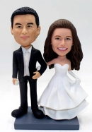 Wedding bobblehead cake toppers