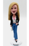 Fashion lady custom bobbleheads