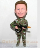 Custom bobbleheads for kid-Airsoft camouflage