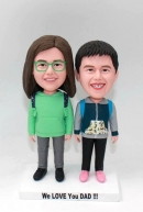 Custom bobbleheads-Brother/sister