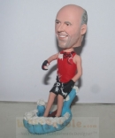 Water skiing custom bobblehead