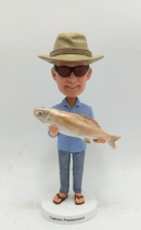 Personalized bobblehead- Fisherman