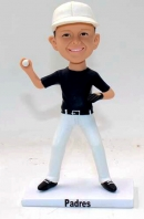 Custom baseball player bobblehead- pitching