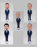 Custom Groomsman bobbleheads made from photos