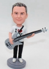 Custom bobblehead guitar player