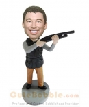 Custom bobblehead with gun