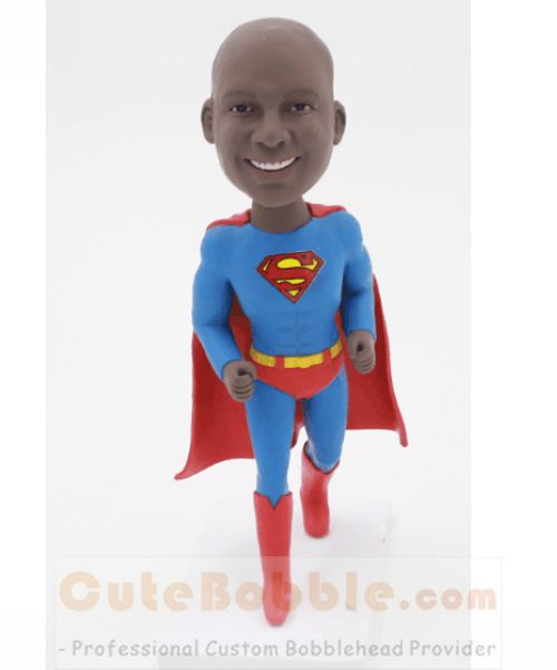 Running Superman custom bobblehead - Click Image to Close