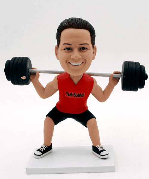 Custom lifting barbell bobbleheads