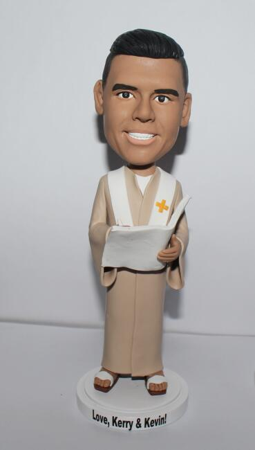 Custom wedding officiant bobblehead