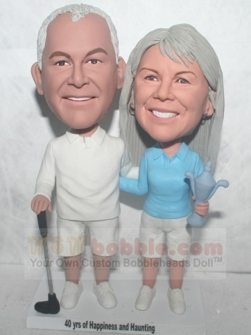 Golf couple bobbleheads