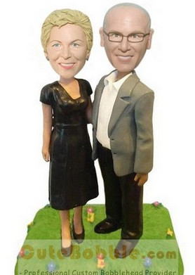 50th Anniversary Bobbleheads For Couple
