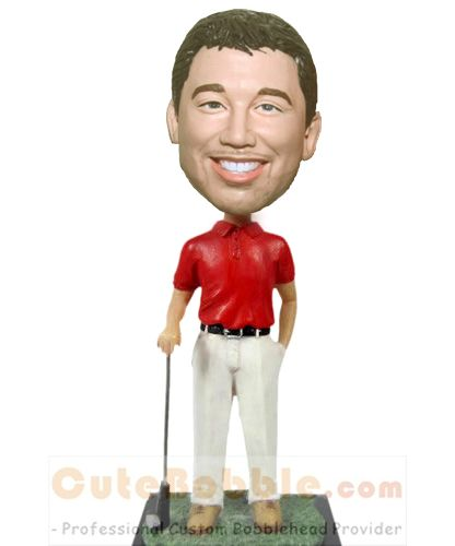 Custom bobble heads with golf club
