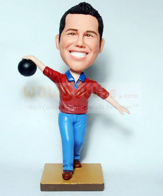 Bowling bobblehead - Click Image to Close
