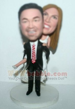 Groom carring bride Custom bobbleheads