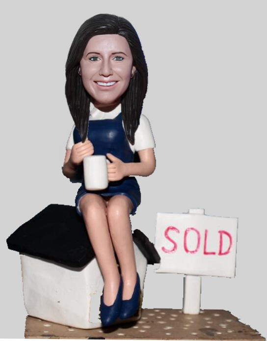 Custom Real Estate Broker Bobblehead