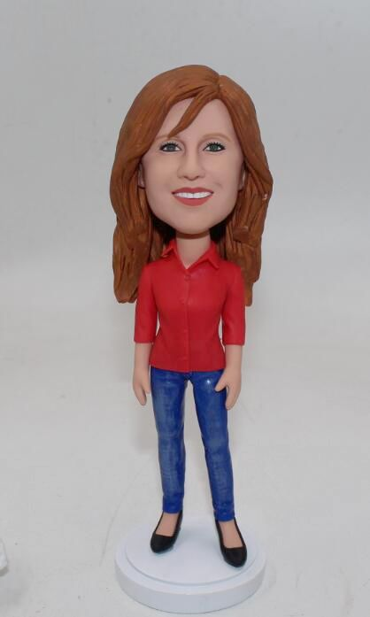 Custom bobblehead - casual female