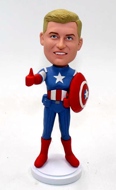 Captain America bobbleheads - Click Image to Close