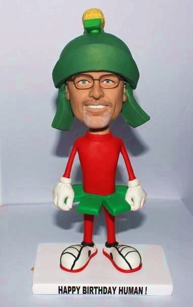 Custom bobblehead- cartoon figure made from photos