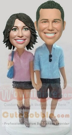 Dress In Casual Bobblehead Couple