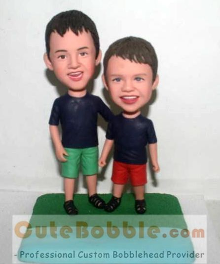 Two brothers custom bobblehead dolls - Click Image to Close