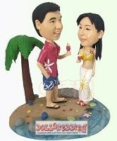 custom bobble heads-beach themed