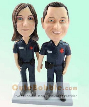 Police Couple Bobbleheads